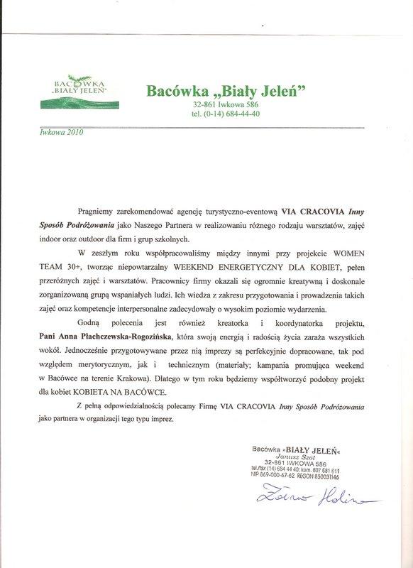 01-referencje – Bacówka Biały Jeleń
